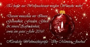 herzliche weihnachtsgrüße münster journal onlinetageszeitung