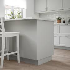 light grey acrylic kitchen cabinets lerhyttan cover panel light gray 25x90