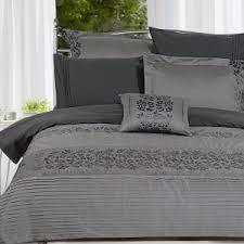 bedroom elegant gray duvet cover for impressive bedroom