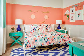 Turquoise And Coral Bedroom Design Reveal Whimsical Big Room Project Nursery