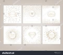 wedding card hand drawn vector card collection stock vector