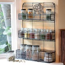 kitchen free standing wire spice racks organizing spices use