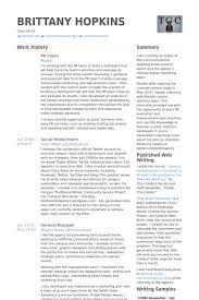 Printer Resume Pr Intern Resume Samples Visualcv Resume Samples Database