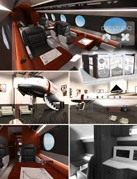 private jet designer 3d models and 3d software by daz 3d
