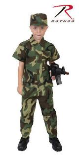 Military Halloween Costumes Kids Childrens Boys Army Usmc Soldier Woodland Forest Camo