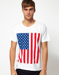 White Power Flags Lyst American Apparel Power Wash Tshirt With Us Flag In White