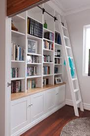 Rolling Ladder Bookcase Built In Wa Library Ladders