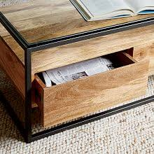 coffee table frame modern accent tables west elm