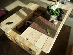 Coffee Table From Pallet Pallet Coffee Table With Storage Slide Out And Lift Home Design