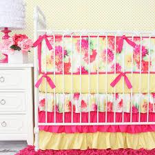 Crib Bedding Set With Bumper Bumpers Lemon Drop Caden Lane