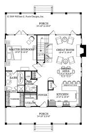 dimensioned floor plan country style house plan 3 beds 2 50 baths 1738 sq ft plan 137 262
