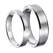 tungsten women rings images 4mm 6mm tungsten carbide ring for men women comfort fit beveled jpg