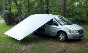 Citroen Berlingo Awning Minivan Awning Tarp To Bungee Cord To Tent Stake Other End To
