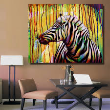 online get cheap zebra print bedroom decor aliexpress com hdartisan half zebras abstract animal picture canvas print decoration oil painting picture for bedroom industrial living