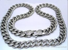 stainless chain link necklace images New husband father gifts huge 15mm 24 39 39 middle eastern men jpg