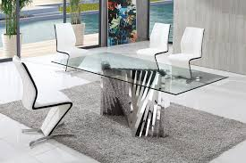 Dining Table And Chairs Glass Dining Table Modenza Furniture - Glass dining room tables