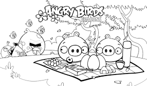 angry bird colotring pages