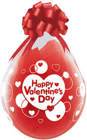 valentines ballons qualatex 18 inch clear balloon happy valentines day