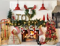 how to decorate a mantel for christmas