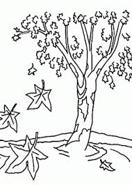 fall tree coloring sheet kids coloring pages autumn tree coloring
