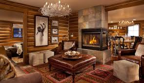 Wood Wall Living Room by Decorations Small Cabin For Hunting Room With Corner Stone