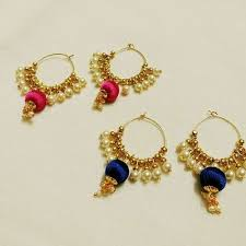 earrings pictures silk thread earrings at rs 300 silk thread earrings id