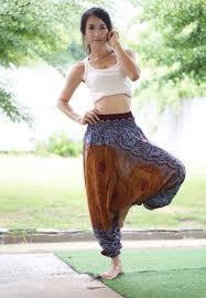 harem pants thai pants rayon pants boho strenchy pants elastic