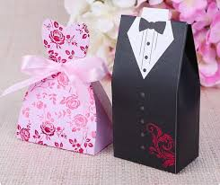 Wedding Gift Decoration Online Shop Bride And Groom Wedding Candy Bomboniere Boxes For