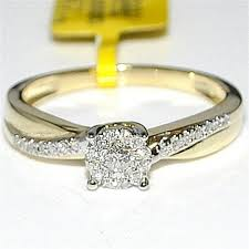 gold promise rings engagement ring 14k gold 0 26ct yellow gold real diamond
