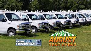 Ford F250 Truck Tent - august tent event at preston ford u0027s commercial trucks in maryland