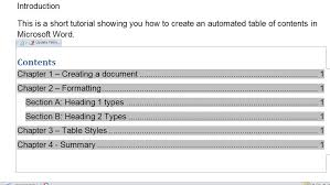 create table of contents in word how to make automated table of contents in microsoft word tech advisor