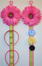 hair bow holders hair accessories storage funky flower matching headband holder and