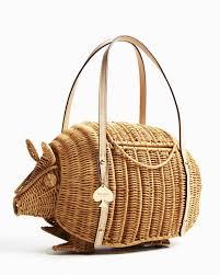 kate spade new york armadillo wicker shoulder bag