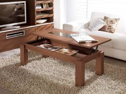 charming modern lift up coffee table with hard wood materials