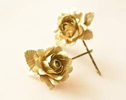 flower hair pins gold flower hair pin etsy