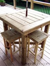 How To Make A Round Wooden Picnic Table by Outdoor Bar Height Table Foter