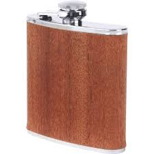 wooden flasks wholesale 6oz flask with real sapele wood wrap buy wholesale flasks