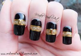 black n gold nail designs beautify themselves with sweet nails