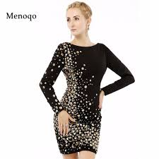 online get cheap long sleeve short cocktail party dress