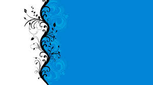 blue and white deck floral graphics vectors walldevil