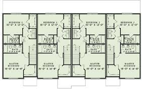 three plex floor plans french country four plex 60620nd architectural designs house