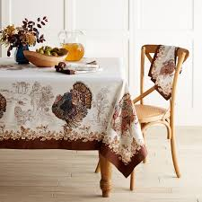 plymouth turkey tablecloth williams sonoma