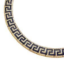 key choker necklace images Meander greek key necklace k293 silver zircon culturetaste jpg