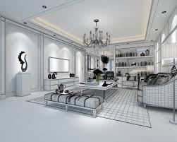 3d model family living room restaurant design corridor