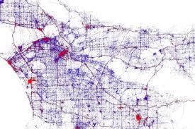 Los Angeles Public Transportation Map by Mapping The Unexpected And Expected Tourist Spots In La Curbed La