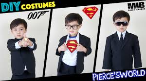 diy last minute halloween costumes james bond superman mib