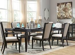 Raymour And Flanigan Dining Room Chadwell 7 Pc Dining Set Off White Dark Mink Raymour U0026 Flanigan