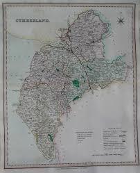 cumberland lake map cumberland lake district michael antique maps and prints