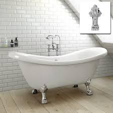 ibahtuk traditional roll top double slipper bath freestanding