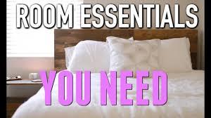 Bedroom Furniture Essentials 5 Bedroom Essentials You Need Youtube